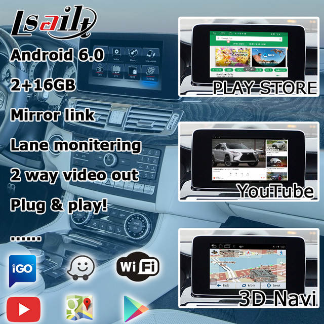 US $550 0 |Lsailt Android GPS navigation box for Mercedes benz CLS class  NTG 5 0 video interface mirror link yandex navi box with Carplay-in Vehicle