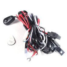 Universal Car Fog Light Wiring Loom Harness Kit Bar with Fuse and Relay Switch