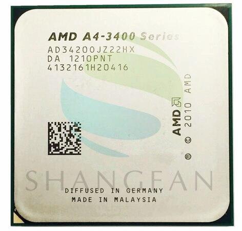 AMD A4-3400 Série A4-3420 A4 3420 2.8 GHz Dual-Core CPU Processeur AD3420OJZ22HX Socket FM1