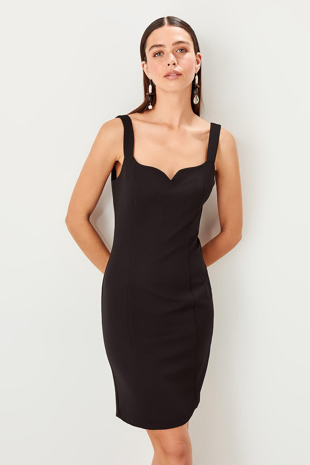 Trendyol Black Halter Dress TWOSS19EL0078