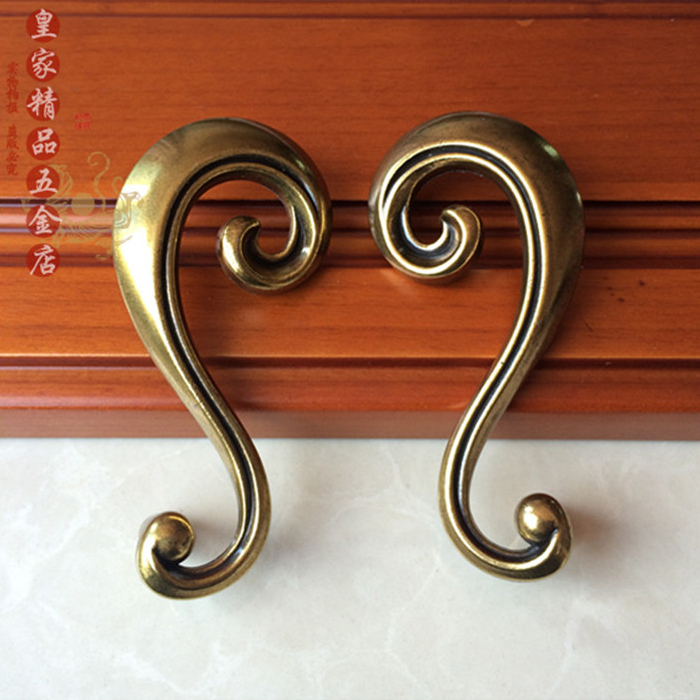Antique Bronze Zinc Alloy Furniture Handles Kitchen Cabinet Knobs and Handles Wardrobe Cupboard Door Pull Handle 64mm luxury gold czech crystal round cabinet door knobs and handles furnitures cupboard wardrobe drawer pull handle