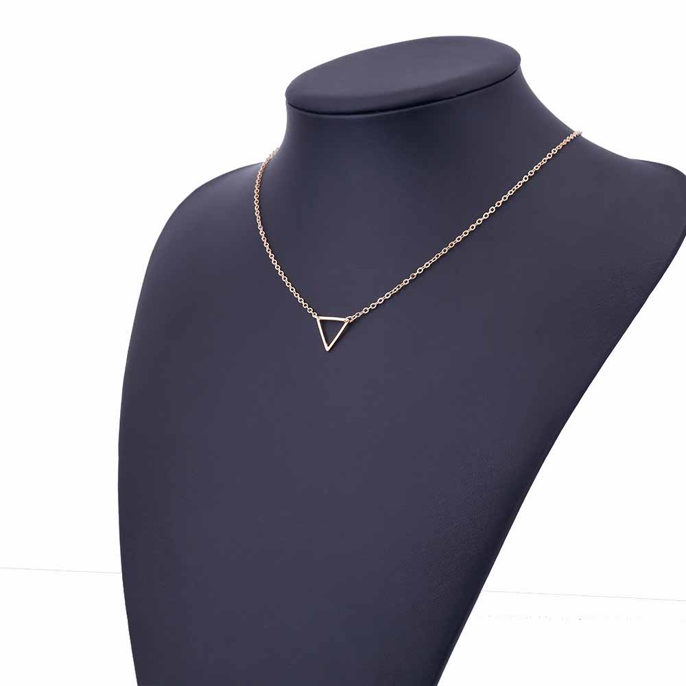 Charm necklace metal triangle Pendant Necklaces ladies gift 6
