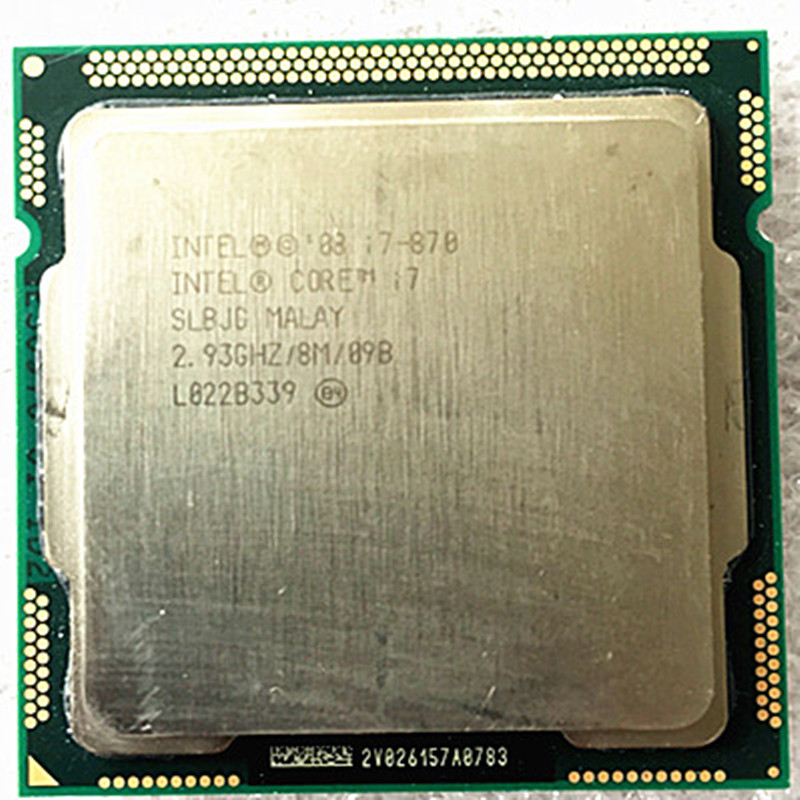 INTEL <font><b>i7</b></font> 870( <font><b>LGA1156</b></font> socket 2.93GHz) Quad-Core processor Dispersible tablets cpu image