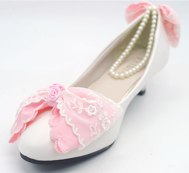 Pink Low Heel Wedding Shoes: PINK Bow Wedding Shoes Woman Sweet Handmade Low High