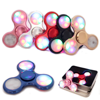 Metal LED Light Fidget Spinner Finger EDC Hand Spinner For Autism And ADHD Relief Focus Anxiety