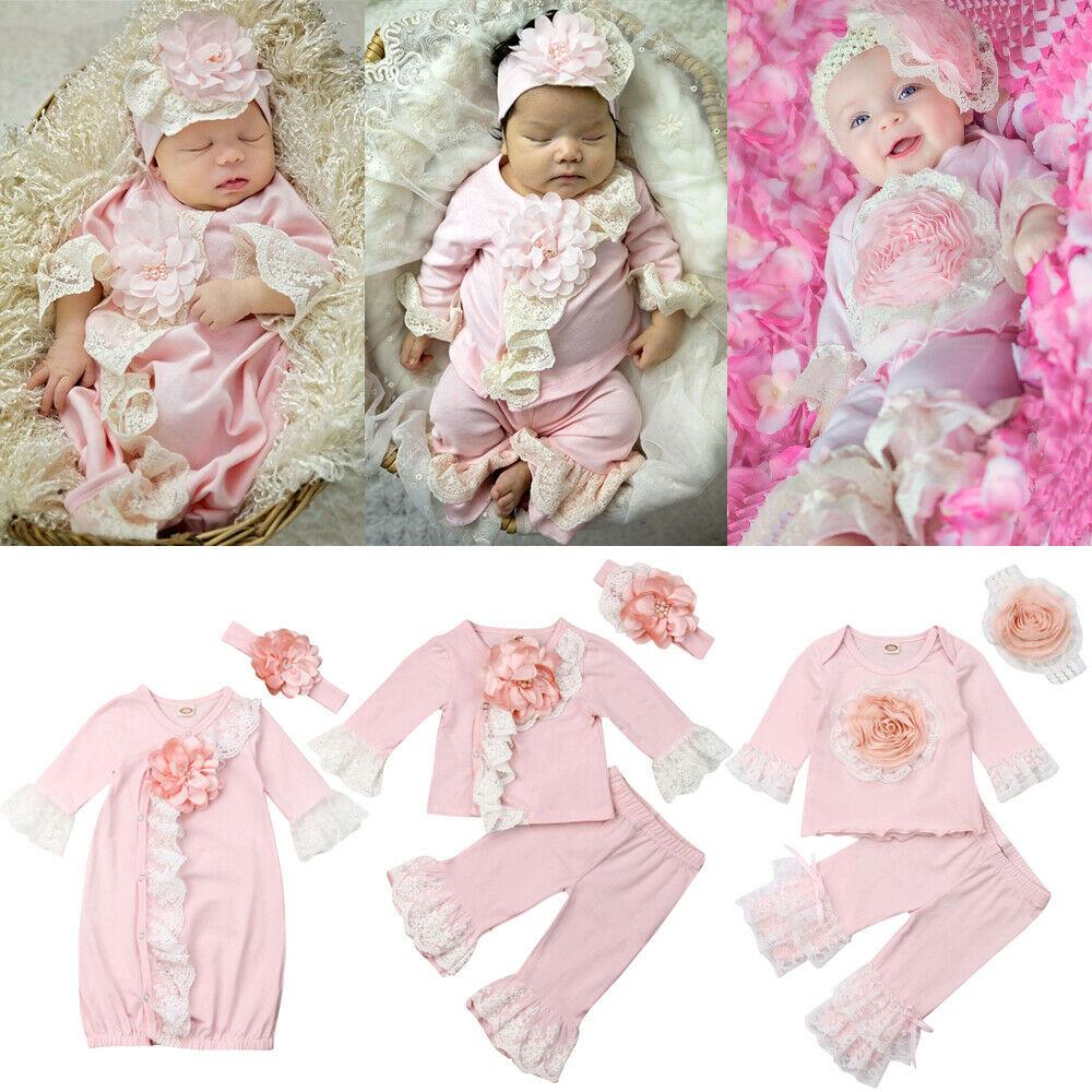 27b1f7ff6d Newborn Baby Girl Boy Cotton Gown Letter Outfit Pajamas Set Sleepwear Baby  Night Dress