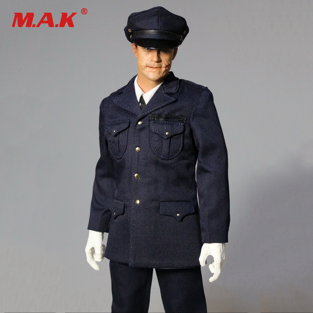1/6 Batman Joker Police Head Sculpt + Dress Suit MOM0001 Fit 12 Male Action Figure Body Accessories Hot Toys