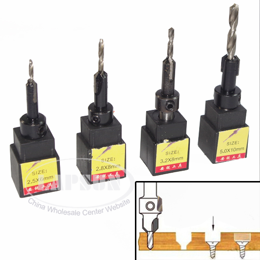 Drill Bits Good 18pc/lot Hss Wood Working Tools Ti Countersink Drill Bit Set Wood Countersinks Screw Size 1.5mm 2mm 2.5mm 2.8mm 3.2mm 5mm 6mm Hand & Power Tool Accessories