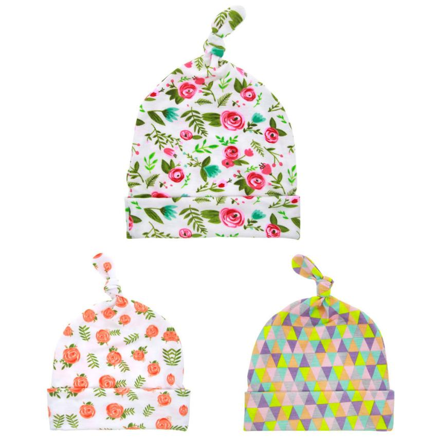 Spring autumn Cotton Baby Hat For Girls Boys Newborn Style Printing Beanie Baby Hat Accessories Hospital Cap lowest price