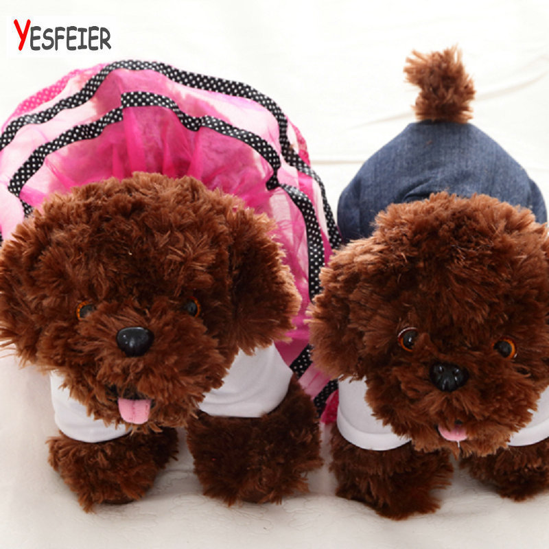 Yesfeier Stuffed Pet Soft Toys Kids Children Birthday Gifts Home Decor lovers dog wedding 35cm Cute Puppy Dolls Plush Dog Toy metoo owl doll plush toys soft cloth dolls home decoration cute warm stuffed toy kids children birthday gift sofa car decor