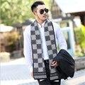 Спешите купить его! Высокое качество бренд моды Осень-Зима утолщаются теплые кашемировые мужчины шарфы плед господа длинные пашмины
