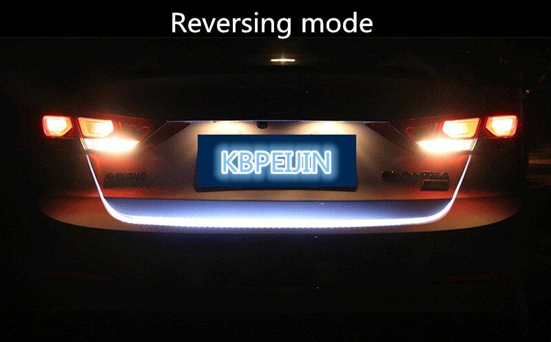 Accessories LED Dynamic Trunk Strip Lighting Rear Tail light Sticker for Vw polo tiguan golf 7 4 6 passat b6 b5 b7 car styling
