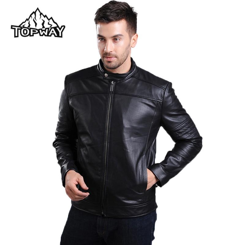 Hombre con chaqueta de cuero