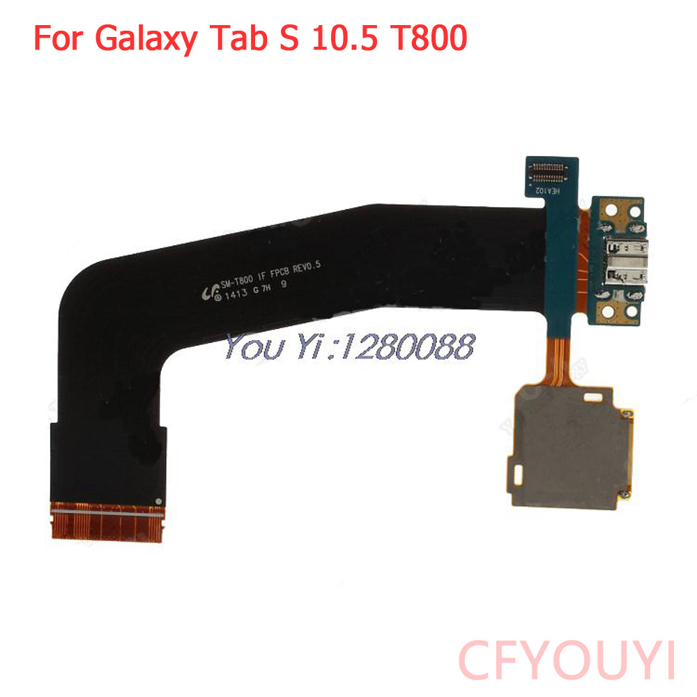 OEM For Samsung Galaxy Tab S 10.5 T800 USB Dock Connector Charging Port Flex With SD Card Reader Flex Cable