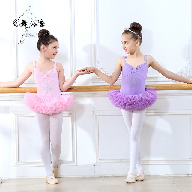 aca3d1a98 Classical Ballet Tutu Dancewear 2-9 Years Girls Ballet Clothes Costumes  Toddler Leotard Professional Tutus Ballerina Dress Kids