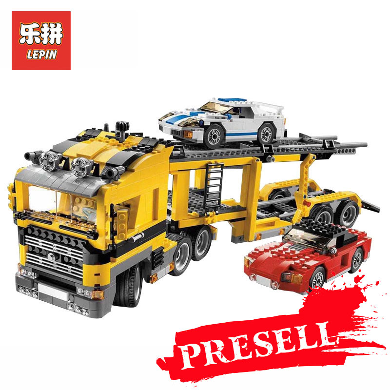 Lepin 24011 Technic Series Three in One Highway Transport Set Educational Model Building Blocks Brick Toys Gift LegoINGlys 6753 compatible with lego technic creative lepin 24011 1344pcs 3 in 1 highway transport building blocks 6753 bricks toys for children