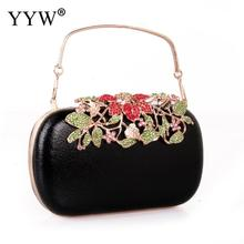 Black Clutches Bag For Women Flower Clutch Bride Wedding Bags Flowers Evening Bags Mini Wedding Dinner Bags Luxury Clutch Purse 2018 fashion evening bags gold silver clutch bag blue red evening clutch wedding bride clutches purse women bag mini handbags