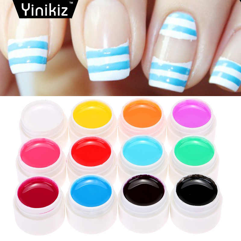 Promoción 8ml Gel de uñas gran oferta 12 COLORSNail Art esmalte de uñas UV LED Gel polaco Semi esmalte de Gel permanente