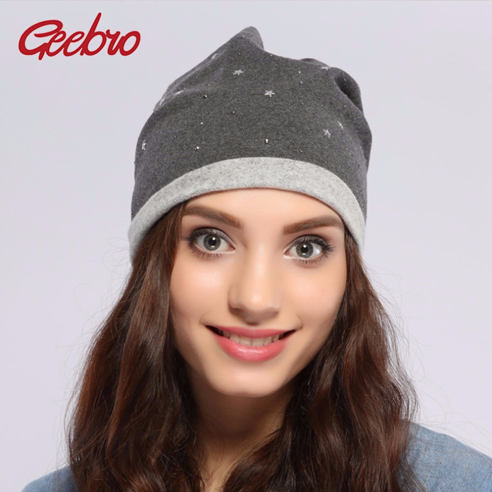 2017 Geebro Authentic Frauen Frühling Winter Slouchy Star Hüte Geschenk Strick Gorro Beanies Warme Skullies Für Mädchen Js261a Vertrieb Von QualitäTssicherung
