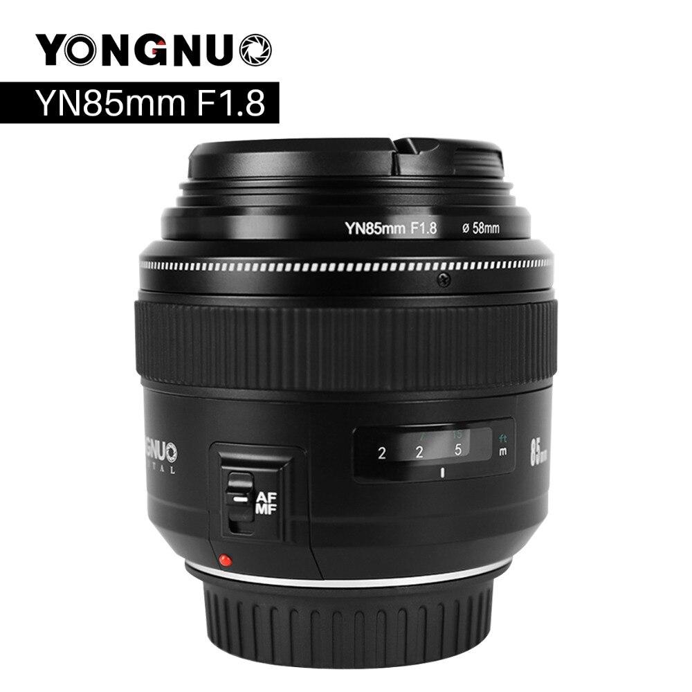 Yongnuo yn85mm f1.8 lente da câmera para canon ef montagem eos 85mm af/mf padrão médio lente da câmera focal fixa