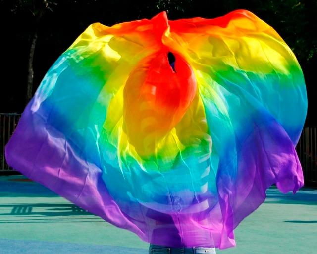 2016 Высший сорт сексуальные женщины 100% реального танец живота вуаль шелк на продажу цвета радуги