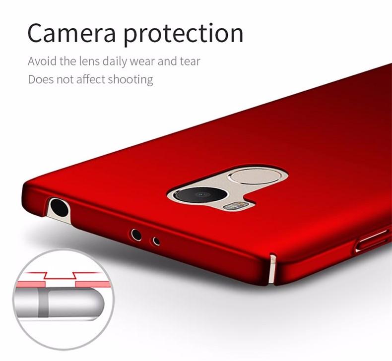 Luksusowe mocno plecy plastikowe matte case dla xiaomi redmi 4 pro przypadki przypadku xiaomi redmi 4 pełna pokrywa pc telefon komórkowy pokrycie p35 10