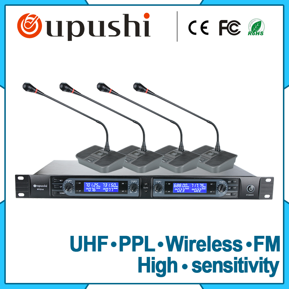 Ppl meeting gooseneck mics 8 channel conference wireless microphone