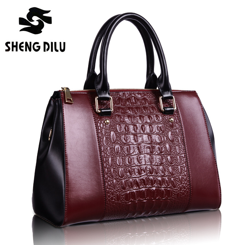 ShengDiLu Brand New Arrive Women Shoulder Bag Nubuck Leather Vintage Messenger Bag Large Motorcycle Crossbody Bags Women Bags