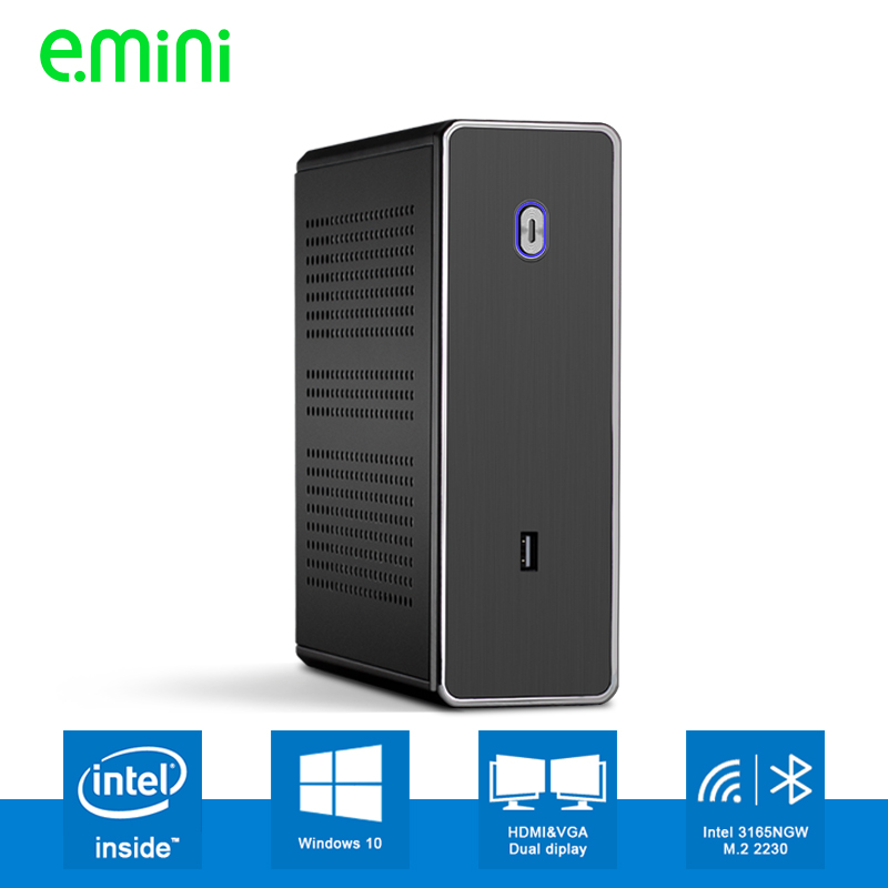 Realan Intel Core i5 6200U i7 6500U Celeron 3865 Mini PC Windows 10 Barebone Computer DDR3L free shipping