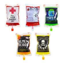 250 мл 5 tyles прозрачный медицинский ПВХ материал многоразовый пакетик для энергетических напитков Хэллоуин вампир сумка реквизит