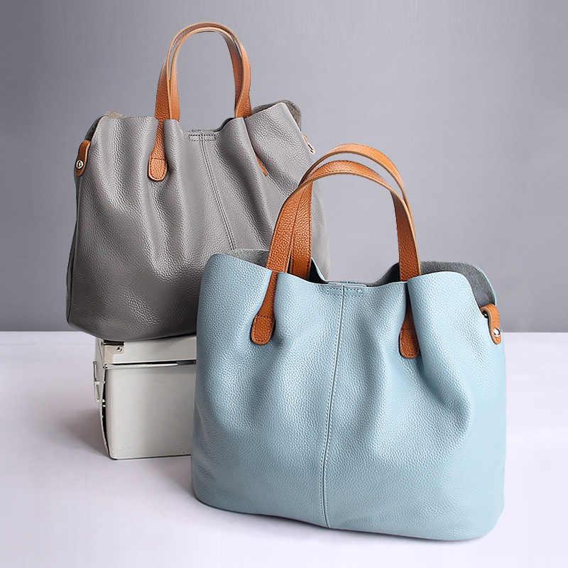 Дамские сумочки из натуральной воловьей кожи с зернистой поверхностью, Модные Портативные мессенджеры на плечо из воловьей кожи, композитные мешки