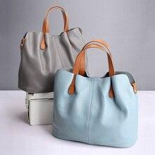 Echtem Leder handtaschen kopf schicht rindsleder litschi korn frauen handtaschen mode Tragbare schulter messenger taschen verbund taschen