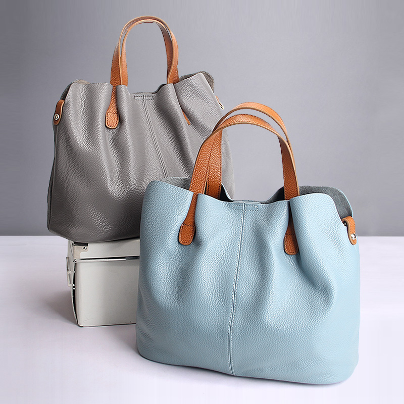 Women's Genuine Leather Hangbag Shopper Tote Bag Hobo Bag Shoulder Messenger Bag