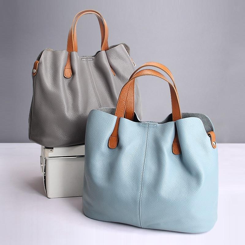 Véritable sacs à main en cuir couche de tête de vache litchi grain femmes sacs à main de mode Portable sacoches à bandoulière sacs composites