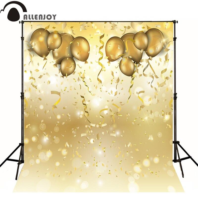 AllEnjoy photography background Balloon light golden ribbon newborn celebrat flags Professional photographic backdrop studio 5feet 6 5feet background snow housing balloon photography backdropsvinyl photography backdrop 3447 lk