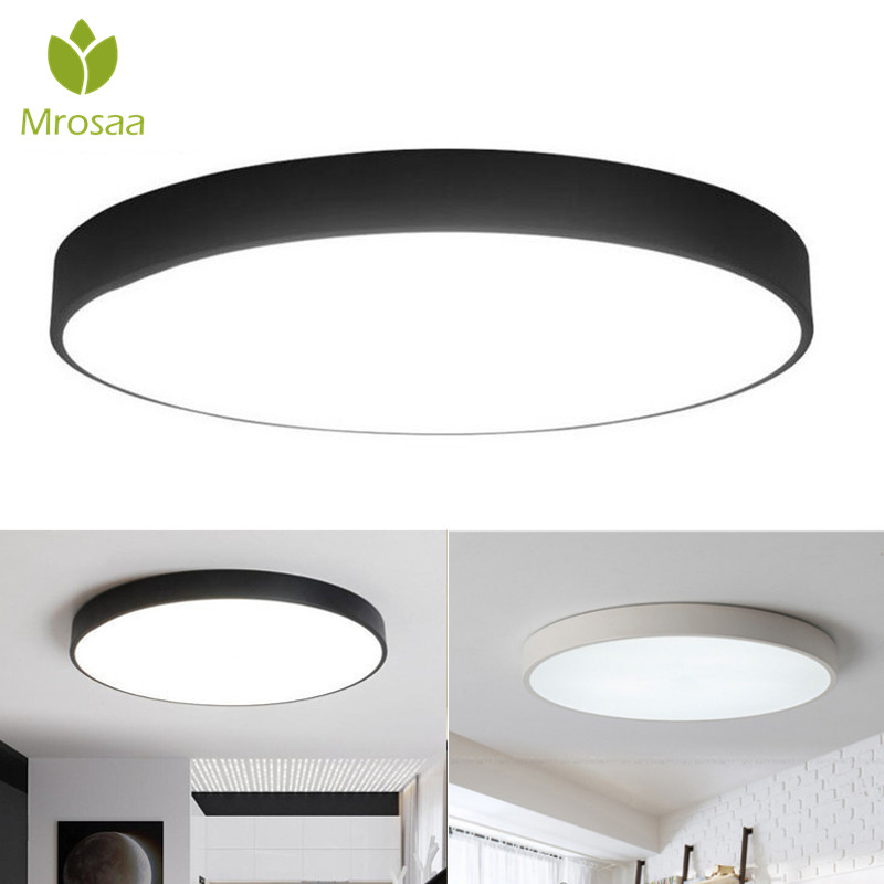 Fashion Style Led Ceiling Lights For Living Room Modern Panel Lamp Lighting Fixture Bedroom Kitchen Surface Mount Remote Control Ceiling Lamps Fine Workmanship Ceiling Lights