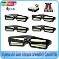Бесплатная Доставка! 5 ШТ. с Активным затвором 144 Гц 3D Очки Для Acer/BenQ/Optoma/View Sonic/Dell DLP-Link Проектор