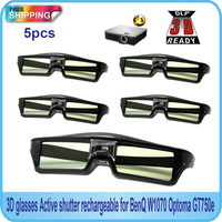 Free Shipping 5PCS Active Shutter 144Hz 3D Glasses For Acer BenQ Optoma View Sonic Dell DLP