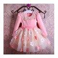 Новый год Хэллоуин детская одежда 2-6 девочка осенью и зимой одежда/Платье/высокий качество материала платье горячей продажи