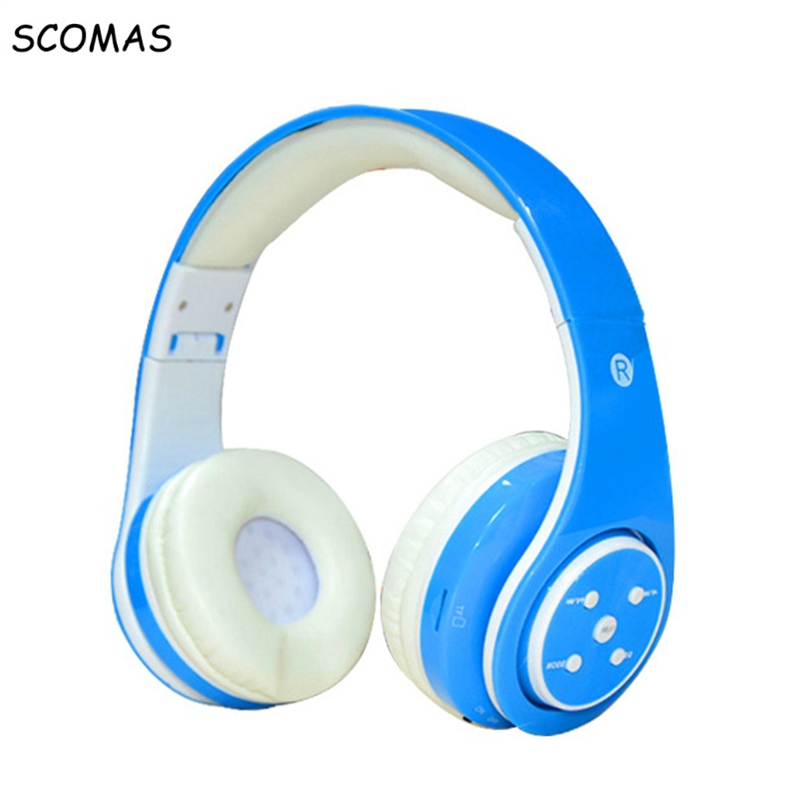 SCOMAS wireless bluetooth Headset stereo Headphone Headphones Folding Bluetooth headphone with mic bass sound Over-ear Earphone car charger bluetooth wireless headphones in ear earphone headset mini stereo headphone white color