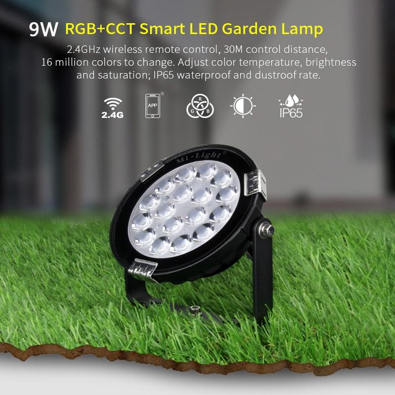 FUTC01/FUTC02/FUTC03 9W 15W RGB+CCT Lawn Light IP65 Waterproof DC24V AC110V 220V Outdoor Garden Lighting B8 2.4G Remote