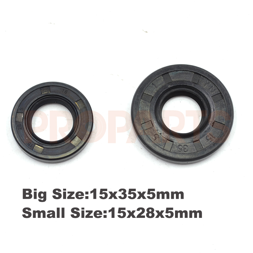 45CC 52CC 58CC 4500 5200 5800 Chinese Chainsaw Oil Seal Set 15X28X5mm 15X35X5mm