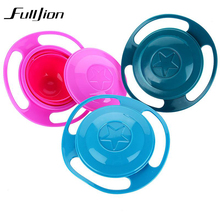 Baby Tableware Dishes Bowl Children Feeding Infant Food Container Plates Cup 360 Rotate Spill-Proof Learning Dinnerware Bowls