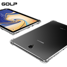 цена на Silicone Soft Cover For Samsung Galaxy Tab Case, GOLP Transparent Soft TPU Case for samsung S4 S5E P200 T510 T720 T590 T830