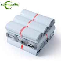 Leotrusting White Poly Mailer Adhesive Envelope Bags Bolsa Courier Express Bags Plastic Mailing White Gift Packaging