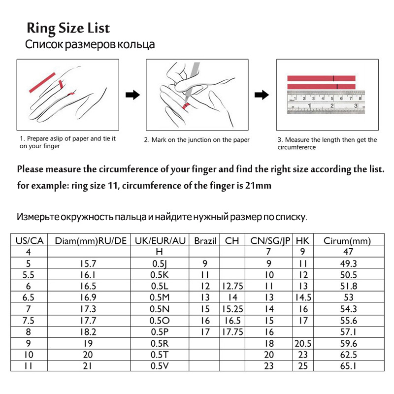 ring size list