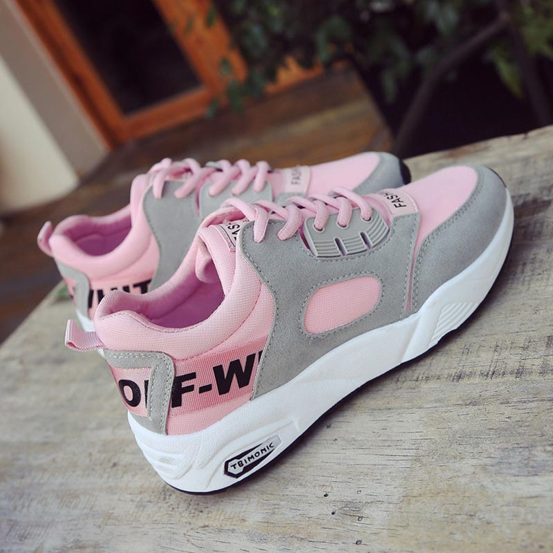 Women shoes 2018 new comfortable breathable lace-up women sneakers tenis feminino patchwork wedge female shoes woman glowing sneakers usb charging shoes lights up colorful led kids luminous sneakers glowing sneakers black led shoes for boys