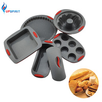 Upspirit Practical Cake Mold Non Stick Silicone Pan Heat Resisting Toast Pizza Decoration Tray Multifunction Kitchen