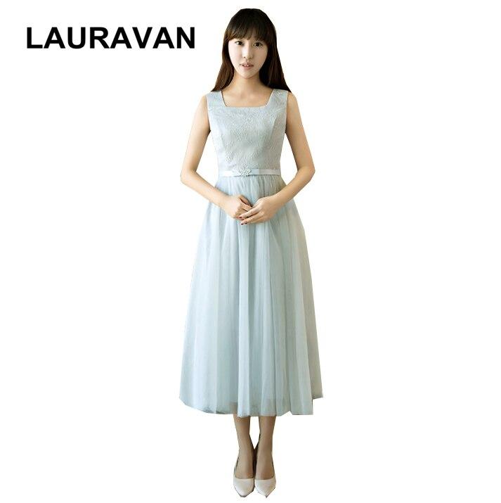 elegant pretty princess short sexy sleeveless gray girls bridesmaid party dresses for women tea length ball gown dress 2020