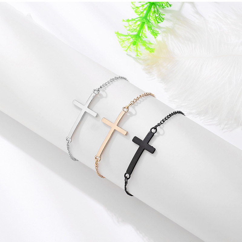 Минималистичный браслет на запястье, с цепочкой, золотистого/серебристого цвета